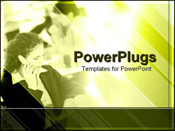 PowerPoint Template - businesswoman on cell phone