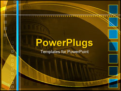 PowerPoint Template - capitol building in Washington D.C