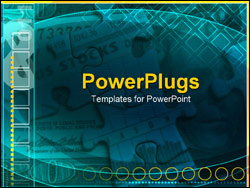 PowerPoint Template - money and puzzle pieces