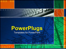 PowerPoint Template - Electric poles
