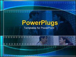 PowerPoint Template - businesswomen talking by buildings