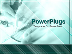 PowerPoint Template - architect drawing blueprints