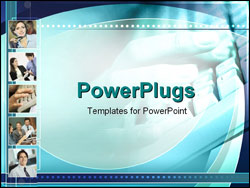 PowerPoint Template - typing hands