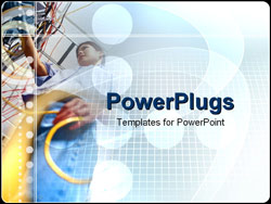 PowerPoint Template - engineer working with wires