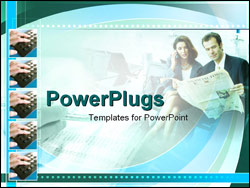 PowerPoint Template - businesswoman and man working