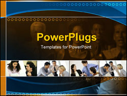 PowerPoint Template - business team collaborating at the office