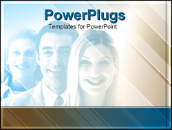 PowerPoint Template - business group smiling