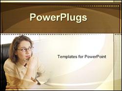 PowerPoint Template - businesswoman thinking