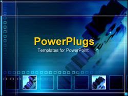 PowerPoint Template - spinning gears