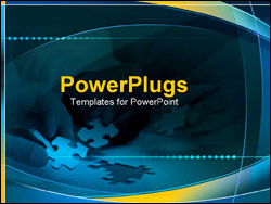 PowerPoint Template - puzzle being put together