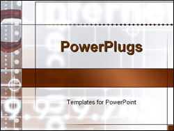 PowerPoint Template - abstract glowing numbers