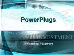 PowerPoint Template - investments papers and cash