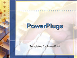 PowerPoint Template - hand typing on keyboard