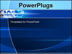 PowerPoint Template - abstract wires