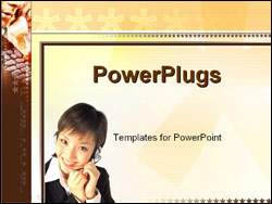 PowerPoint Template - workers talking on the phone