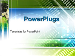 PowerPoint Template - north america and a circuit board