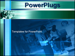 PowerPoint Template - business team at work