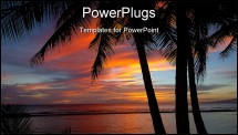 PowerPoint Template - olorful sunset at waikiki hawaii. just before the sun goes down. a perfect place for the honeymoone