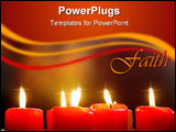 PowerPoint Template - Red Candles with blury background