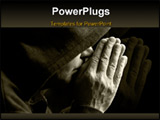 PowerPoint Template - special black and white toned photo fx focus point on hands selective