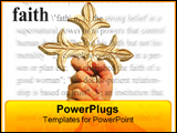 PowerPoint Template - a photo of a woman holding a cross with faith theme