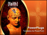 PowerPoint Template - a psychology model highlighting the faith area of the brain