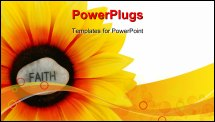 PowerPoint Template - Sunflowers - even artificial ones - shine brightly. Faith shines brightly on this sunflower.