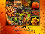 PowerPoint Template - An array of autum pictures set into a collage.