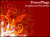 PowerPoint Template - Artistically designed representation of fall flowers and colors.