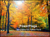 PowerPoint Template - fall foliage in a ct state part