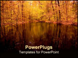 PowerPoint Template - Beautiful reflections on a pond.