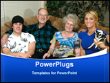 PowerPoint Template - Portrait of Grand Parents with the Grand Kids