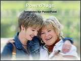 PowerPoint Template - Mother and daughter having a good time together