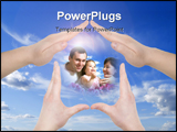 PowerPoint Template - the hand home gesture over sky background