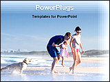 PowerPoint Template - a family on a beach holiday