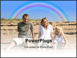 PowerPoint Template - family at the beach ** Note: Slight blurriness, best at smaller sizes