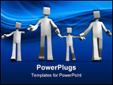 PowerPoint Template - Happy family relationship concept hold hand 3d illustration