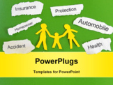 PowerPoint Template - paper family and insurance themed paper pieces