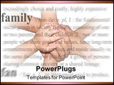 PowerPoint Template - Family holding hands