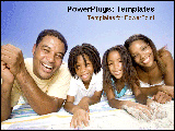 PowerPoint Template - A family laying on the beach happily.