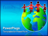PowerPoint Template - family world concept image