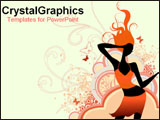 PowerPoint Template - Drawn image of girl dancing.