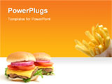 PowerPoint Template - french fries and 2 Big Cheeseburgers