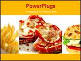 PowerPoint Template - hamburger and french fries
