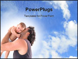 PowerPoint Template - Father holding the baby - baby in focus