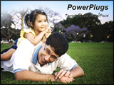 PowerPoint Template - father and daughter wrestling around at park