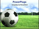 PowerPoint Template - footer ball in a green field