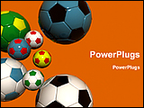 PowerPoint Template - colorful football