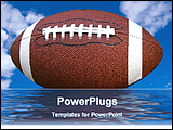 PowerPoint Template - a big rugby ball