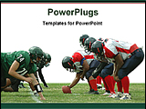 PowerPoint Template - rugby ball player in field